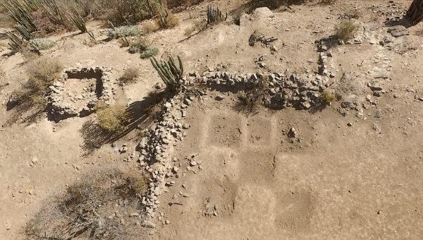 Estructuras del Pucara Inca del Cerro Grande de la Compañía